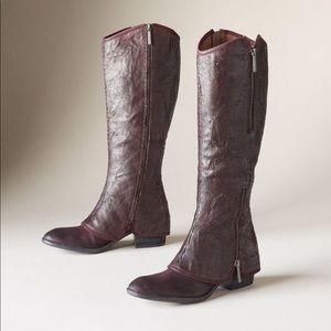 Donald pliner leather Demi boot in Chianti